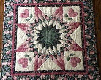 large handquilted Tabletop Square