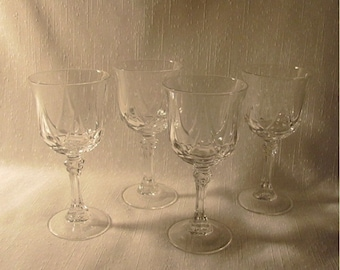 4 Pieces Cristal D'Arques Stemware from France