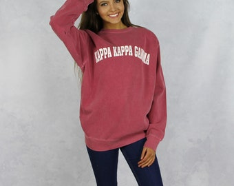 Kappa Kappa Gamma Comfort Colors Sweatshirt in Red