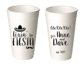 Custom Styrofoam Cups, Personalized Styrofoam Cups, 20 ounce event cups, Fiesta Cups, Wedding Cups, Beer Cups