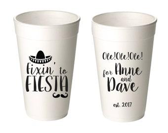 Fiesta Siesta Cerveza /& Pineapples 20 oz Foam Cup Wedding Favors Fun Wedding Party Gifts Wedding Anniversary Party Custom Beverage D400b