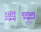 Personalized Party Cups, Personalized Bachelorette Cups, Party Favor Cups, Bachelorette Favors , Drinking Cups, Favors, Wedding Favors