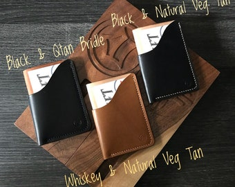 Leather Wallet - Front Pocket Wallet - Leather Card Wallet - Slim Wallet - Slim Card Holder - Card Holder