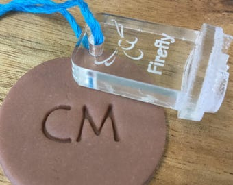 Larger Initial Stamp, 1.5cm, 2 cm, 2.5 cm, 3 cm Makers Mark, Identify Your Work, Ceramics Tool, Pottery Tool