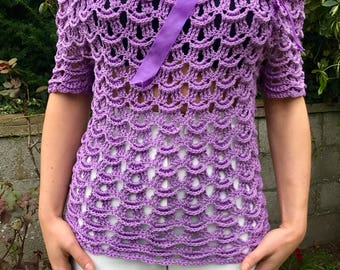 Crochet elegant top