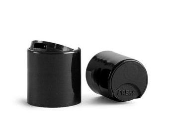 25 Black Disc Cap | Dispensing Cap | Bottle Cap Size: 24-410 ~ BULK25
