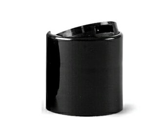 25 Black Disc Cap | Dispensing Cap | Bottle Cap Size: 20-410 ~ BULK25