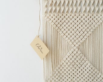 Cream Cotton Macrame Wall Hanging by Courtney Blackwell