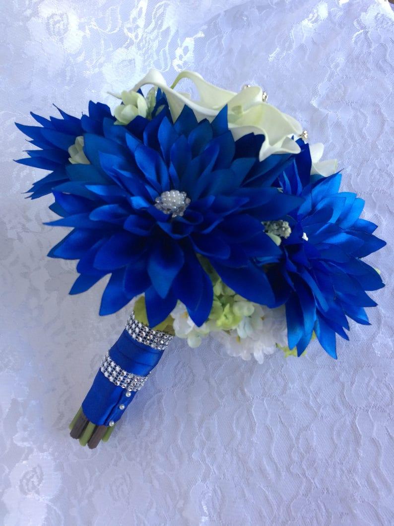 Mint Blue Bouquet Handmade Blue Bouquet Mint Blue Wedding Bridal Blue Bouquet Royal Blue Bouquet Royal Blue Bridal Bouquet Gorgeous