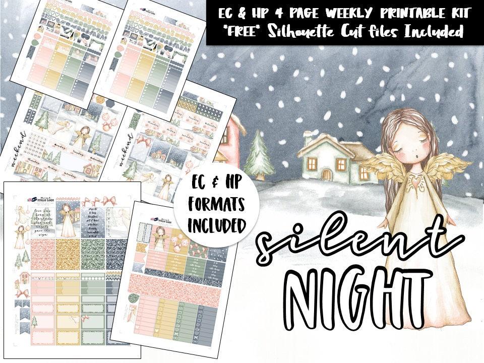 531b138417c2f Printable Weekly planner sticker kit / Christmas / Erin Condren / Happy  Planner / Silhouette Cut Files / DIY printable planner stickers