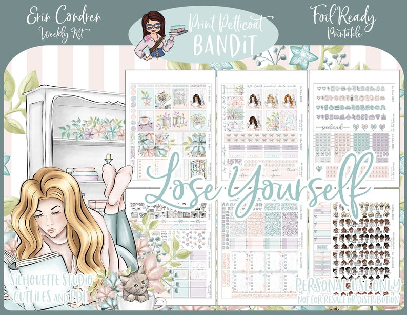 FOIL READY  Printable Erin Condren Weekly Planner Kit  DIY image 0