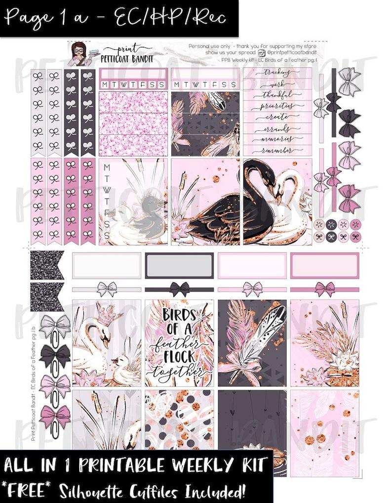 95b89090134a7 Valentines Printable weekly planner sticker kit / Erin Condren / Happy  Planner / DIY EC & HP weekly planner sticker kit / Cut Files included