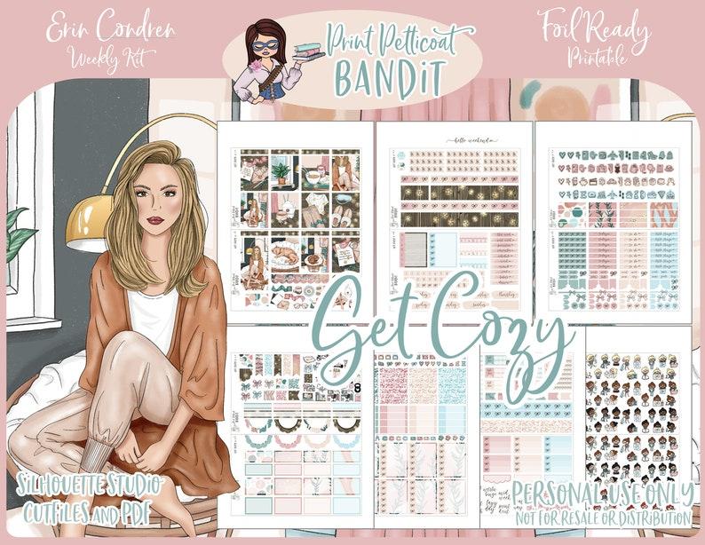 FOIL READY  Printable Erin Condren Weekly Planner Kit  Get image 0