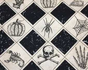 ca0c33729a92 Halloween Cotton checkers with Icons