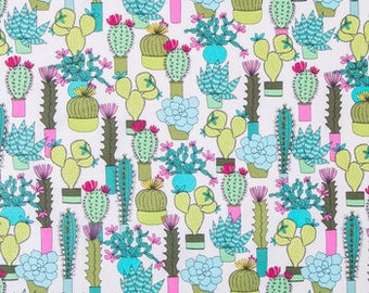 Hobby lobby fabric etsy botanical succulants fabric brother sister designs by the half yard 44 wide 100 cotton cotton fabric cactus fabric desert fabric gumiabroncs Images