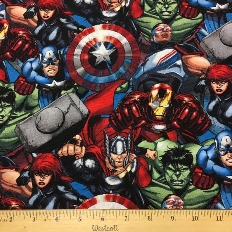 Los Vengadores montar Marvel Comics 100/% Cotton Quilting fabric precio por yarda