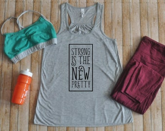 74a8ccc1c1fda4 Strong is the new pretty Women s Tank Top - Work out Tank - Be Strong Tank  - Women are strong