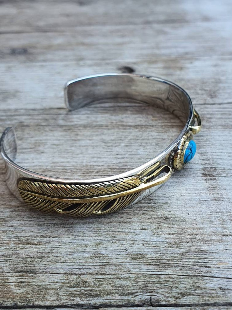 eagle feather bangle 925 sterling silver 2 eagle feather turquoise cuff bangle. native jewelry design