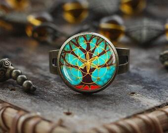 12mm Glass Dome Terrarium Ring Cute Setting for Miniature Scenes A88 ring
