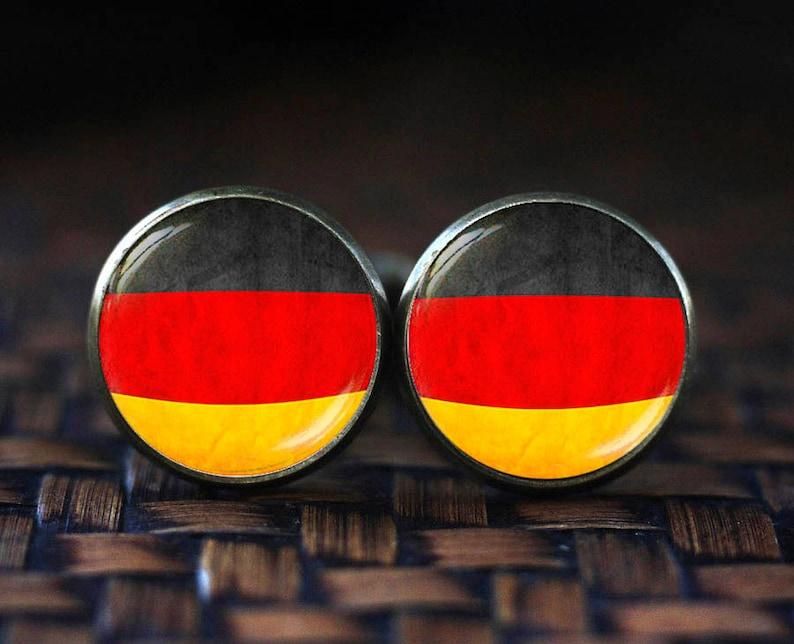 Flag of Germany cufflinks German Flag Germany Flag cufflinks Germany Patriotic gift Flag cufflinks Dutchland Berlin cufflinks