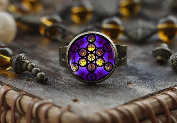 Metatron de cube Boutons de manchette bijoux pour hommes Metatrons Cube g/éom/étrique boutons de manchette Sacred G/éom/étrie Bijoux