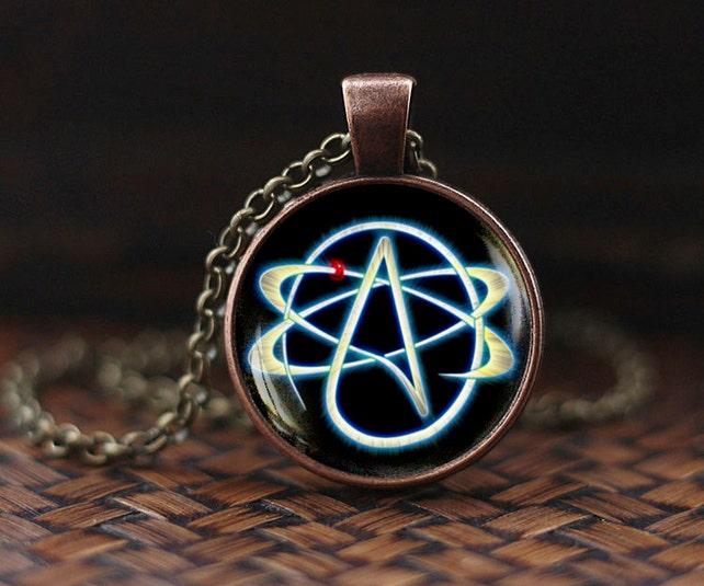 Atheist Symbol Necklace Atom Pendant Atheist Jewelry No Etsy