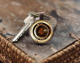 Vintage Camera Lenses Keychain, Photography Keychain, Gift For Photographer, Camera Keychain, Old Lenses Keychain, men's Keychain, kch1