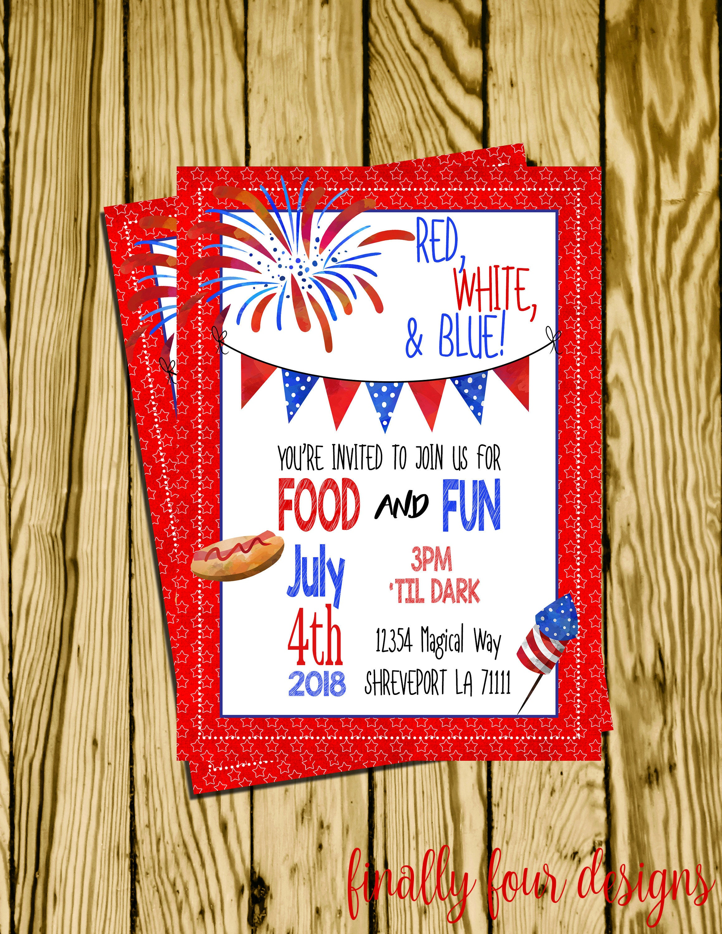 Fourth of July Backyard Party Fireworks Party 4th of July   Etsy