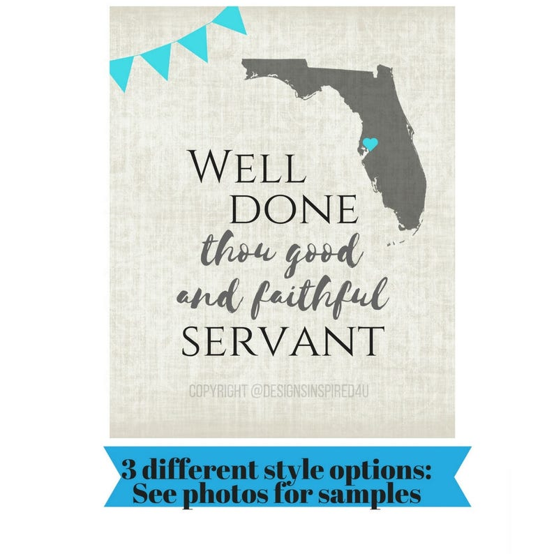 97574be219c7 LDS return missionary sign customized Well Done Thou Good