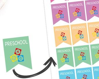 20 x Preschool Planner Stickers Reminder Playdate Group Children Pre School