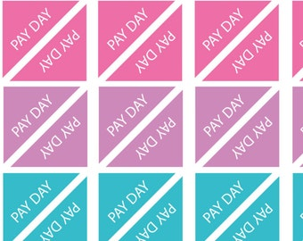 48 x Pay Day or Bill Due Corner Flags Planner Stickers Organiser Reminder Payday