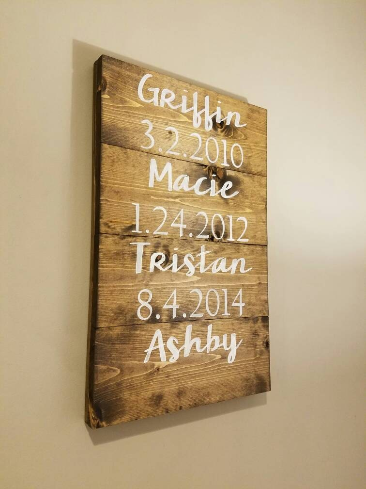 Rustic Name Sign Birthday
