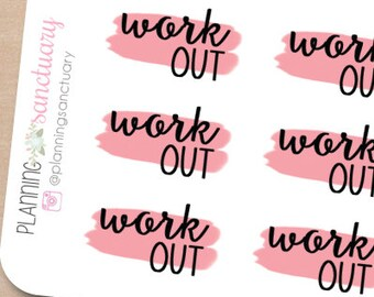 Workout Planner Stickers Perfect for Erin Condren, Kikki K, Filofax and all other Planners