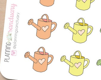 Watering Can Planner Stickers Perfect for Erin Condren, Kikki K, Filofax and all other Planners
