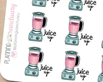 Juice Up || Juicer || Blender Planner Stickers Perfect for Erin Condren, Kikki K, Filofax and all other Planners