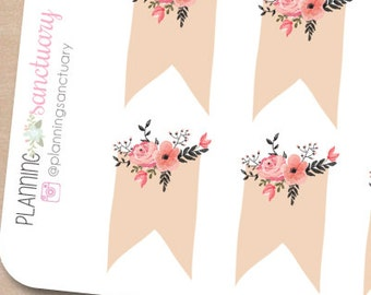 Floral Page Flags Perfect for Erin Condren, Kikki K, Filofax and all other Planners