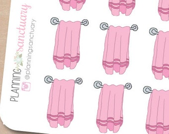 Towels || Laundry || Chores Reminder Planner Stickers Perfect for Erin Condren, Kikki K, Filofax and all other Planners