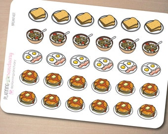 Breakfast Planner Stickers Perfect for Erin Condren, Kikki K, Filofax and all other Planners
