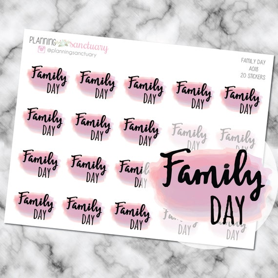 watercolor family day planner stickers perfect for erin etsy