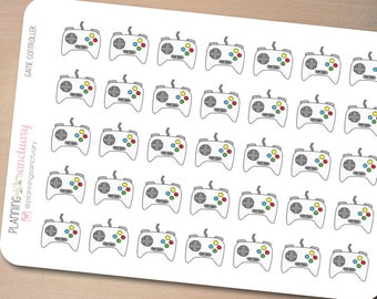 Game Controller Planner Stickers Perfect for Erin Condren, Kikki K, Filofax and all other Planners
