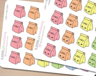 Lunch || Meal || Take Away Planner Stickers Perfect for Erin Condren, Kikki K, Filofax and all other Planners