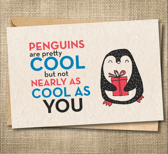 Funny Greeting Cards For Friend Best Card Penguin