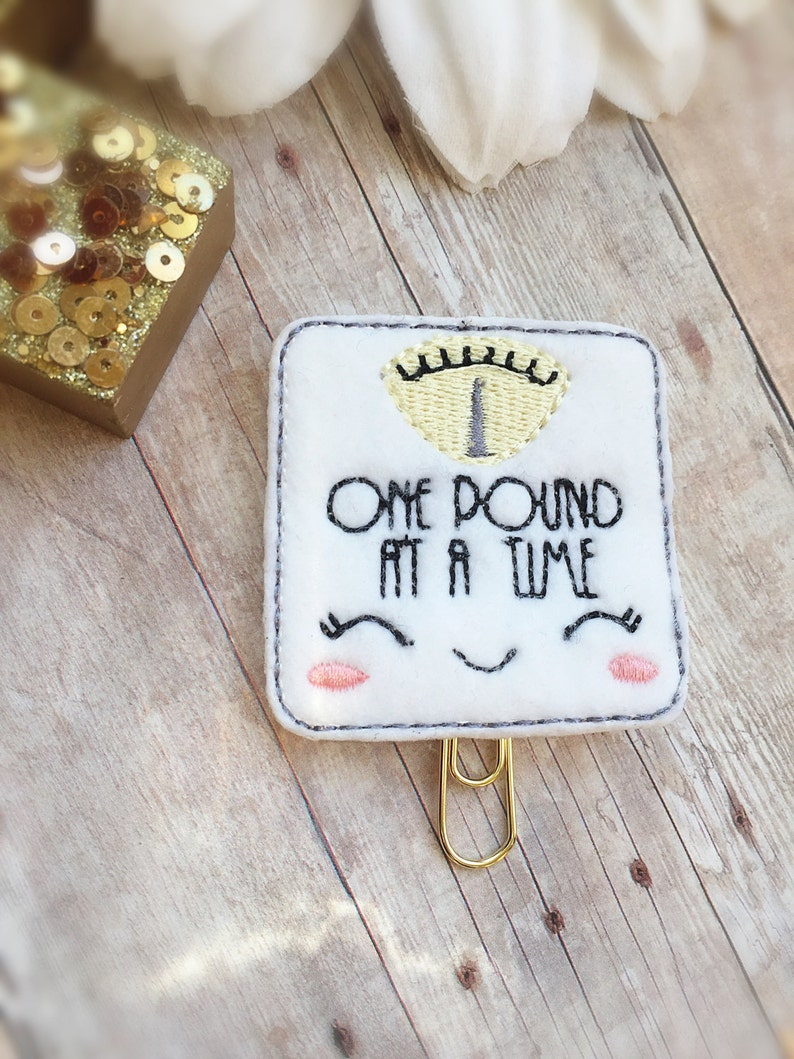 One Pound at a Time Planner Clip  Weight Loss Tracker Planner image 0