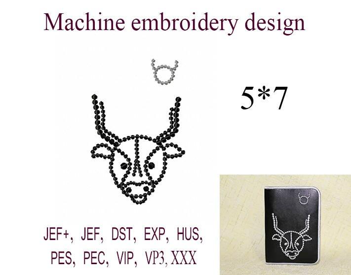 Machine embroidery designs sign of the zodiac Taurus Passport | Etsy