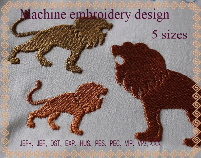 Lion Embroidery design  african Machine embroidery design Lion Silhouette   Lion Embroidery  Lion design  king of beasts Farm Embroidery