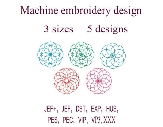 Machine Embroidery Designs Circle Design Embroidery Circle Etsy