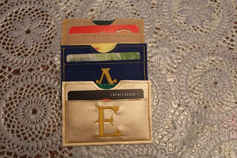 card case machine embroidery design card holder blank case