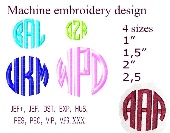 Circle Monogram Embroidery Machine embroidery designs  Monogram Fonts For  Embroidery Embroidery Monogram, Embroidery Designs  26 Letters