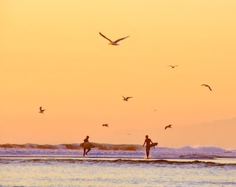"""The Sunset Surfers (8""""x8"""")"""