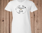 Flower Girl T-shirt with ...
